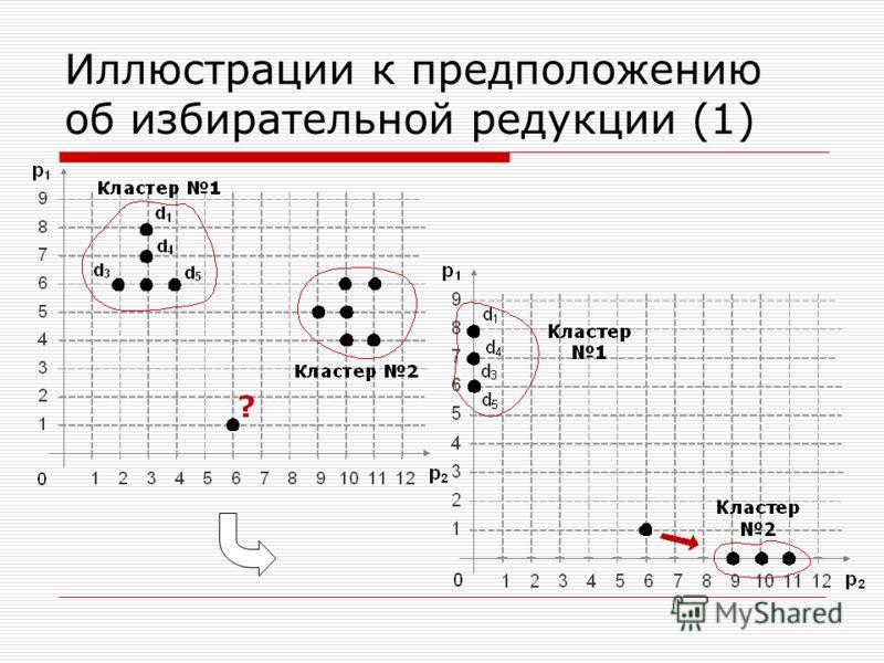 Иллюстрации к предположению об избирательной редукции (1)