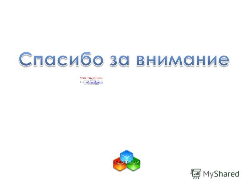 Петров Игорь Евгеньевич www. softvea.ru soft.rosko@mail.ru soft.rosko@mail.ru E-mail: soft.rosko@mail.rusoft.rosko@mail.ru тел. 89127140601