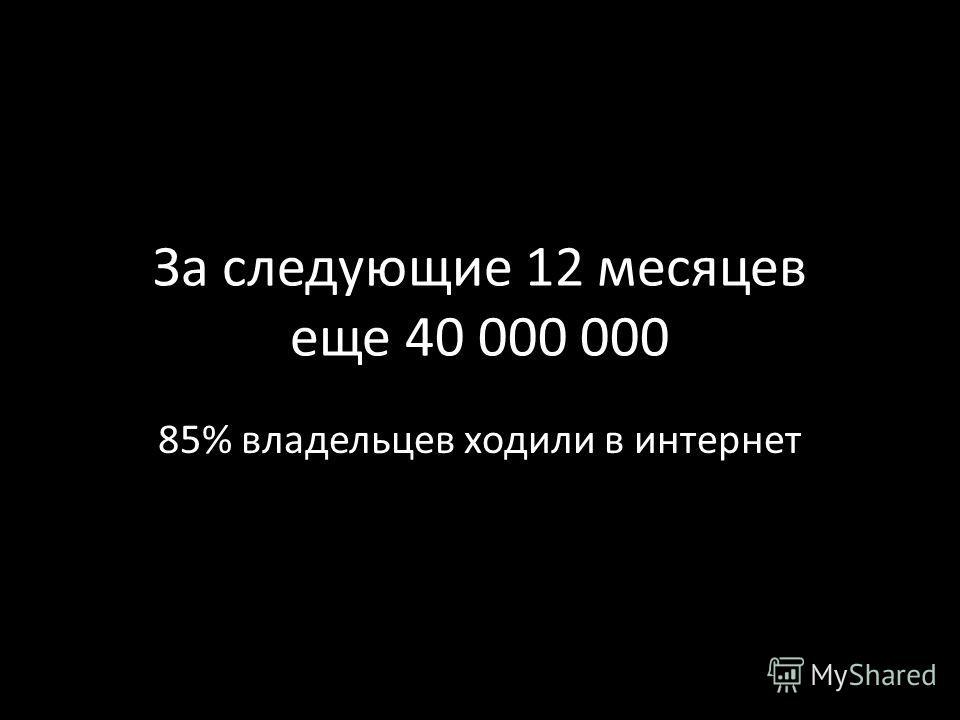 85% владельцев ходили в интернет
