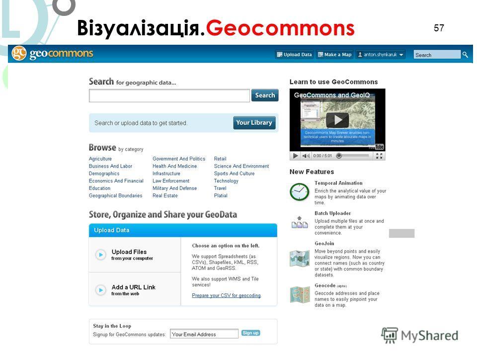 57 Візуалізація.Geocommons L
