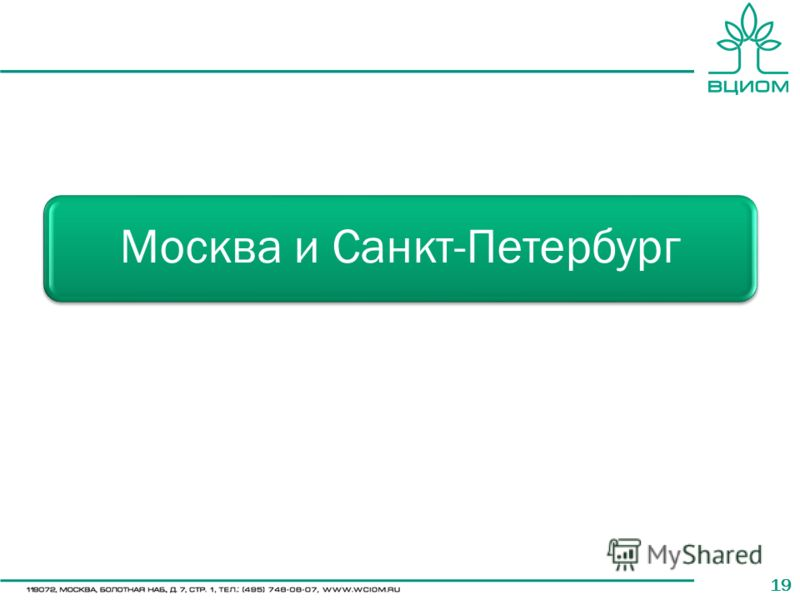 19 Москва и Санкт-Петербург