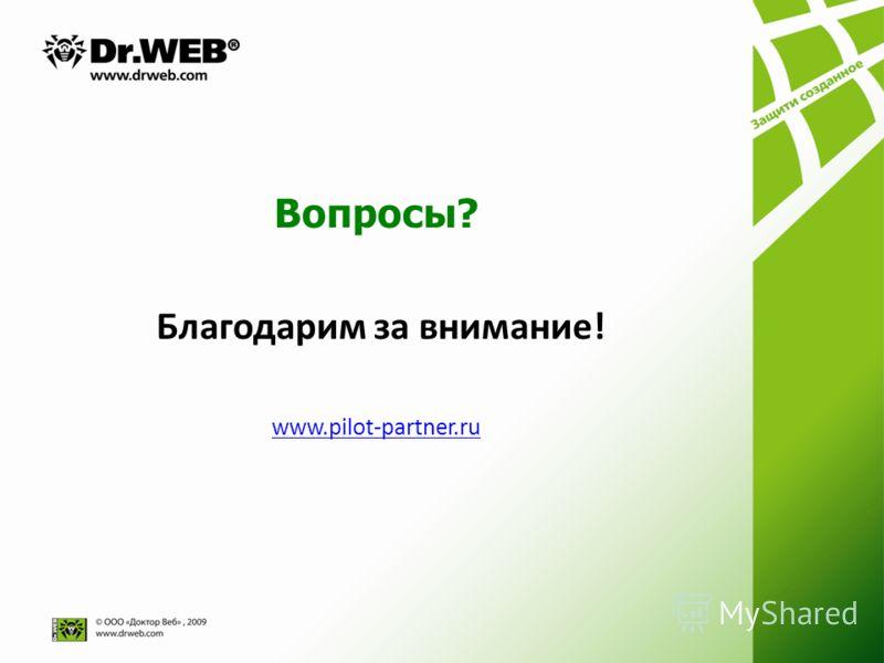 Вопросы? Благодарим за внимание! www.pilot-partner.ru