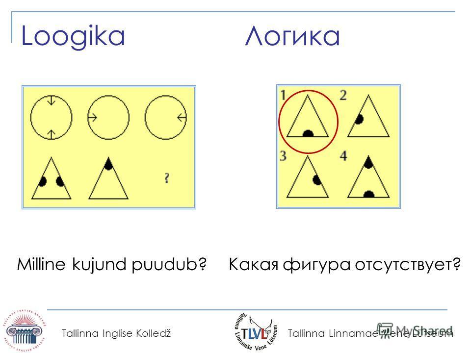 Tallinna Linnamae Vene Lütseum Tallinna Inglise Kolledž Логика Loogika Какая фигура отсутствует?Milline kujund puudub?