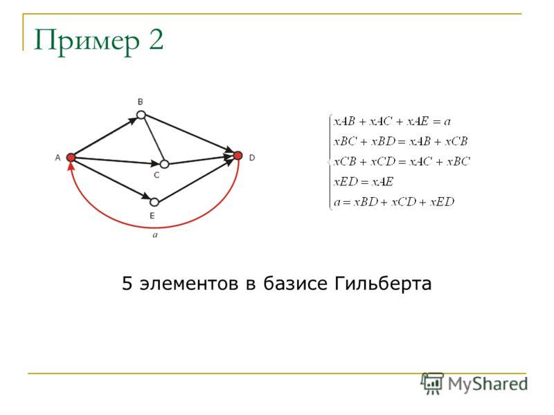 Пример 2 5 элементов в базисе Гильберта