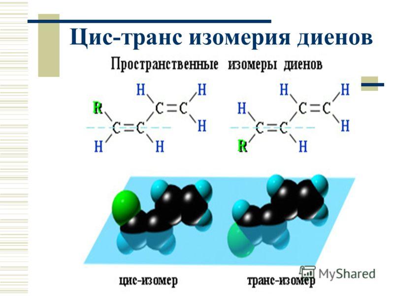 Цис-транс изомерия диенов