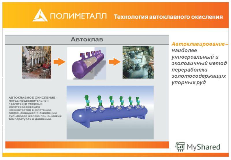 Технология автоклавного окисления Автоклавирование – наиболее универсальный и экологичный метод переработки золотосодержащих упорных руд