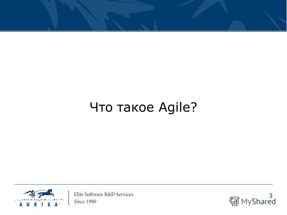 3 Что такое Agile?