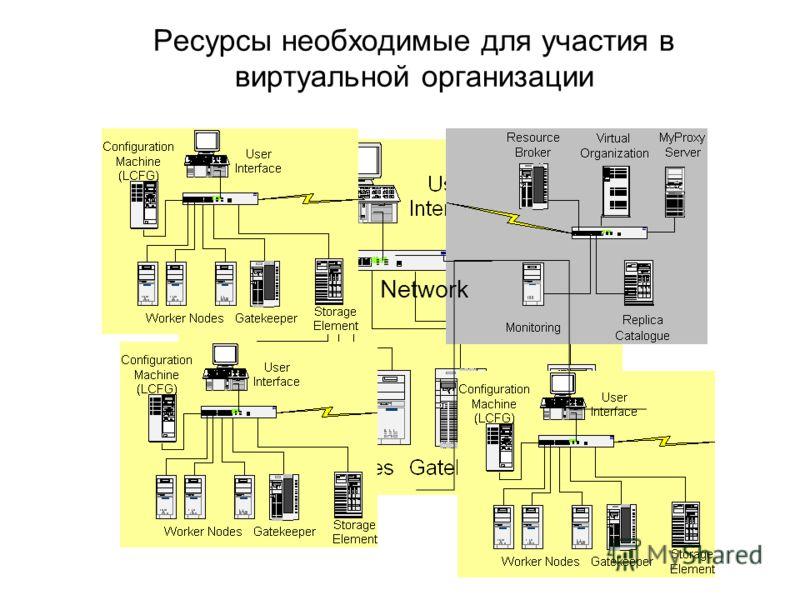Network Ресурсы необходимые для участия в виртуальной организации