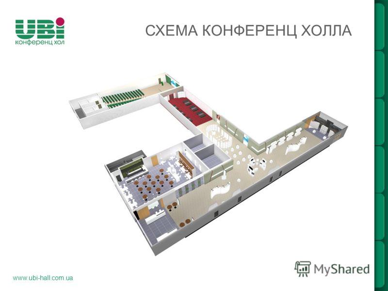 www.ubi-hall.com.ua СХЕМА КОНФЕРЕНЦ ХОЛЛА