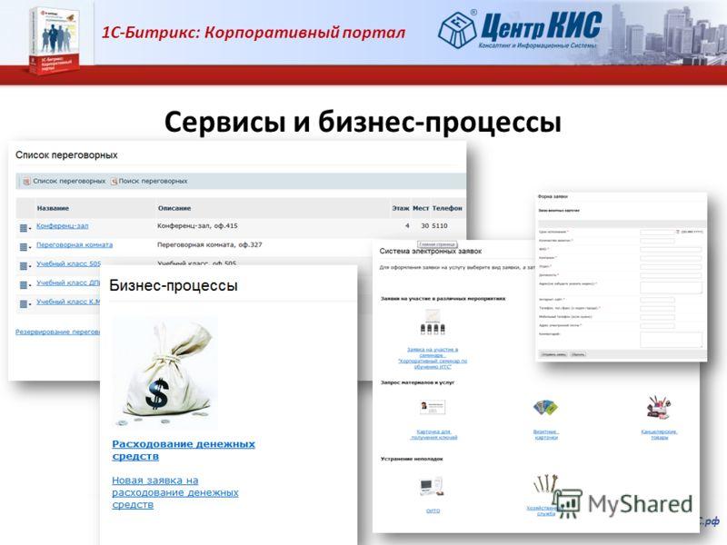 1С-Битрикс: Корпоративный портал Внедрение, обучение, сопровождение. www.ЦентрКИС.рф Сервисы и бизнес-процессы