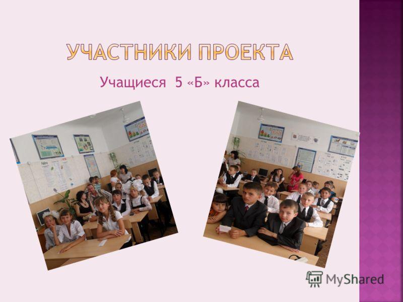 Учащиеся 5 «Б» класса