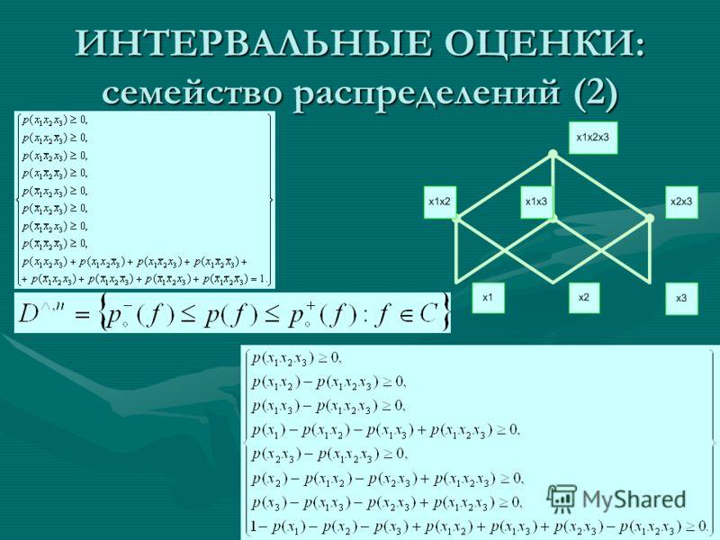 ИНТЕРВАЛЬНЫЕ ОЦЕНКИ: семейство распределений (2)