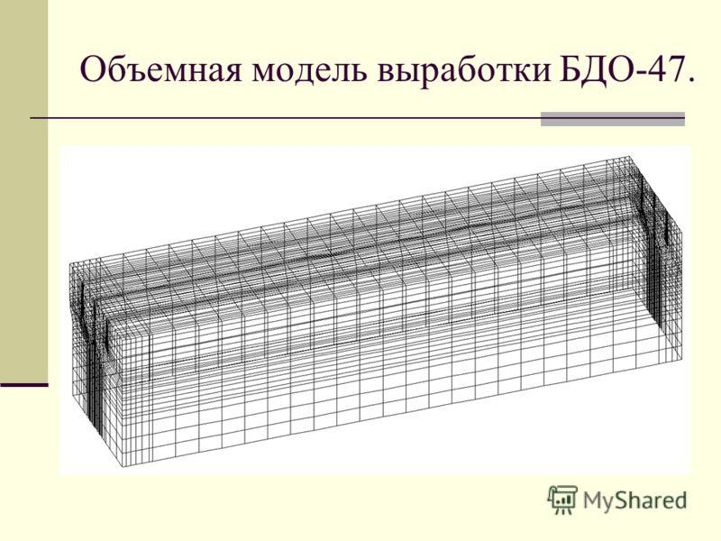 Объемная модель выработки БДО-47.