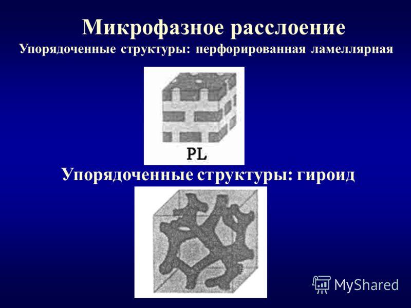 Микрофазное расслоение Упорядоченные структуры: перфорированная ламеллярная Упорядоченные структуры: гироид