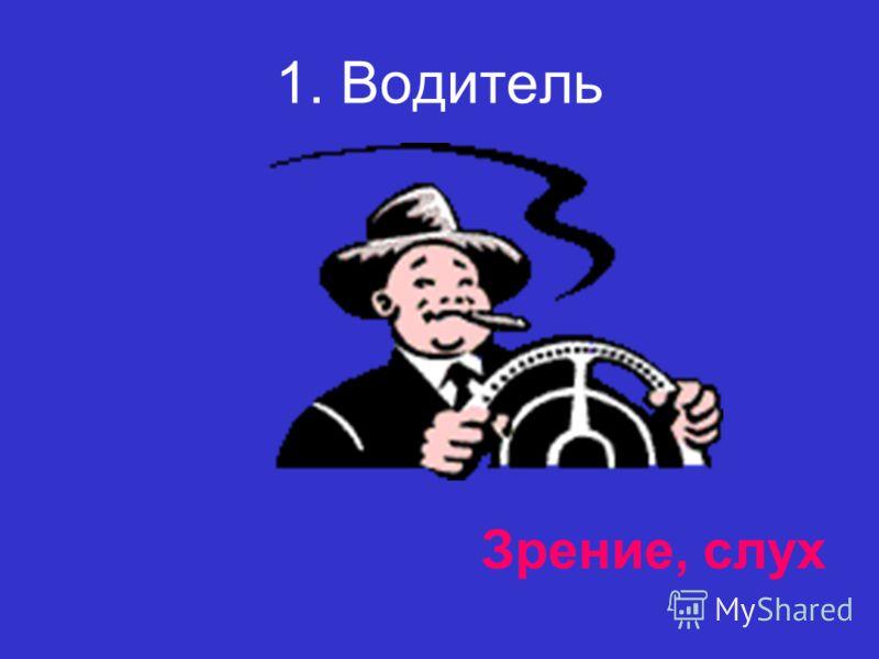 1. Водитель Зрение, слух