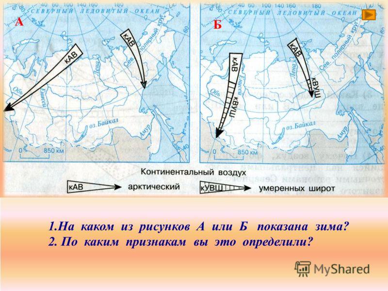 Циркуляция воздушных масс зимой