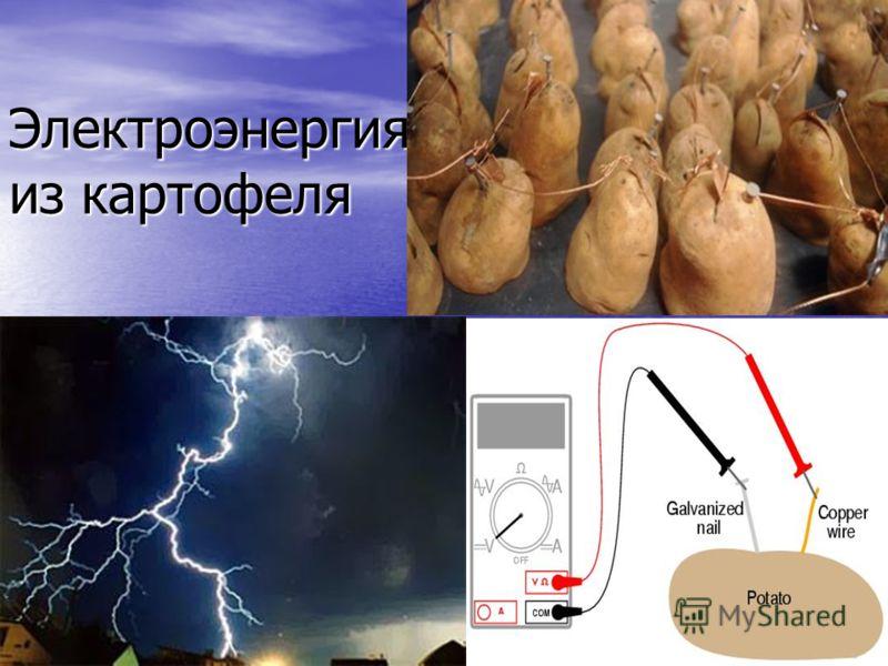 Электроэнергия из картофеля