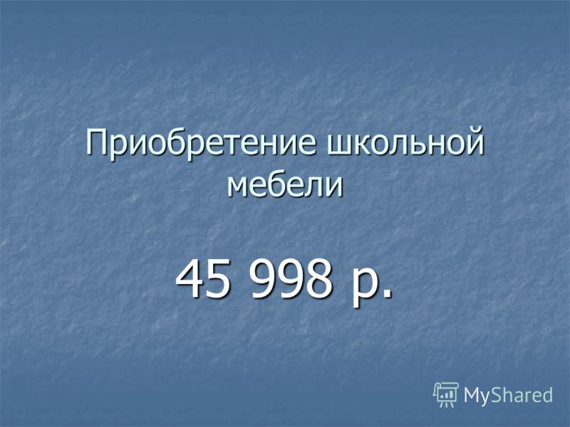 Приобретение школьной мебели 45 998 р.