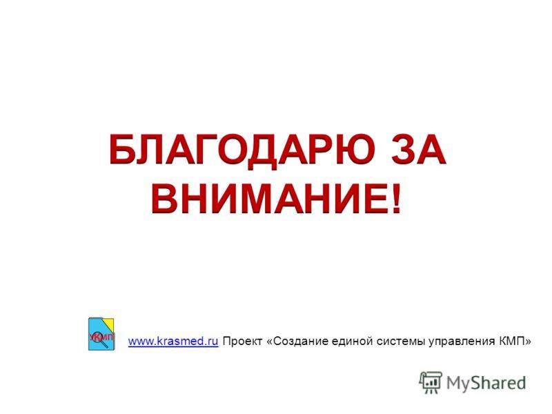 www.krasmed.ruwww.krasmed.ru Проект «Создание единой системы управления КМП»