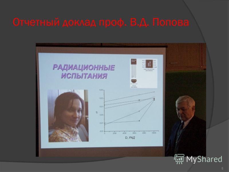 Отчетный доклад проф. В.Д. Попова 8