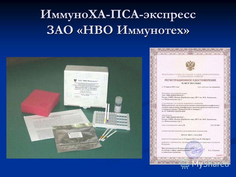 ИммуноХА-ПСА-экспресс ЗАО «НВО Иммунотех»
