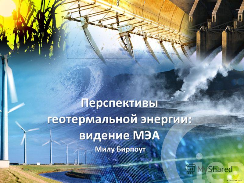 © OECD/IEA 2010 Милу Бирпоут Перспективы геотермальной энергии: видение МЭА