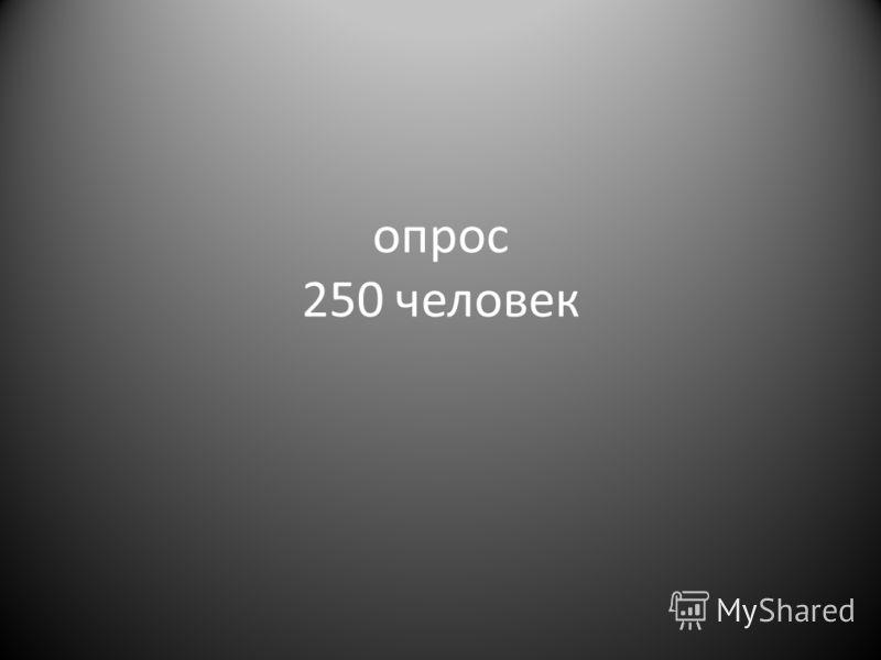 опрос 250 человек