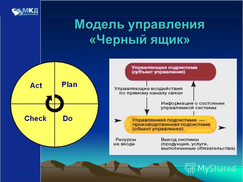 www.mcd-pkf.com Модель управления «Черный ящик»