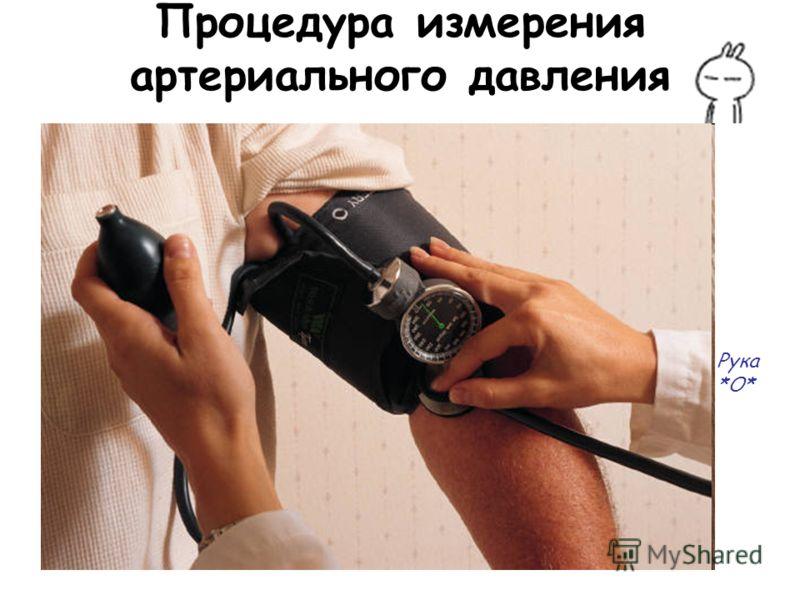 Процедура измерения артериального давления Рука *О*