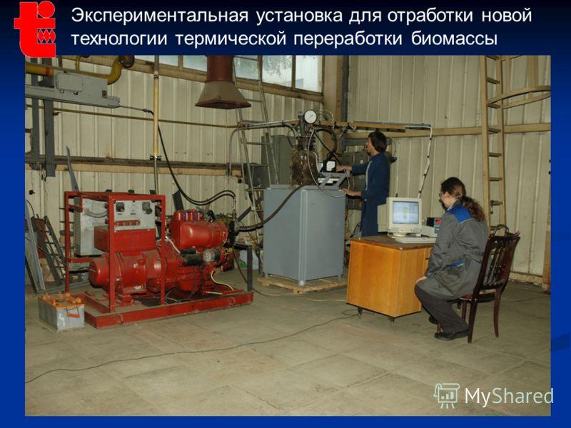 13 Экспериментальная установка для отработки новой технологии термической переработки биомассы