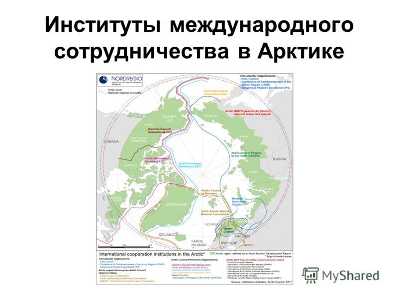 Институты международного сотрудничества в Арктике