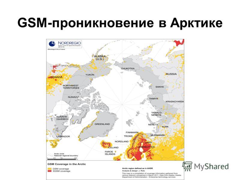 GSM-проникновение в Арктике
