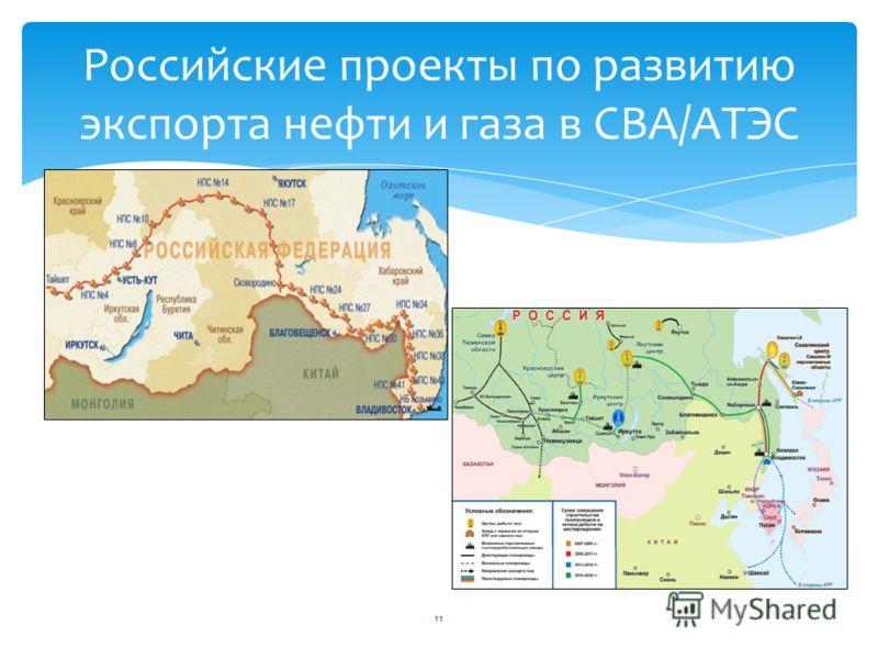 Российские проекты по развитию экспорта нефти и газа в СВА/АТЭС 11