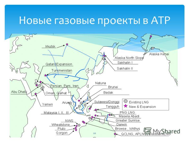 Новые газовые проекты в АТР 20