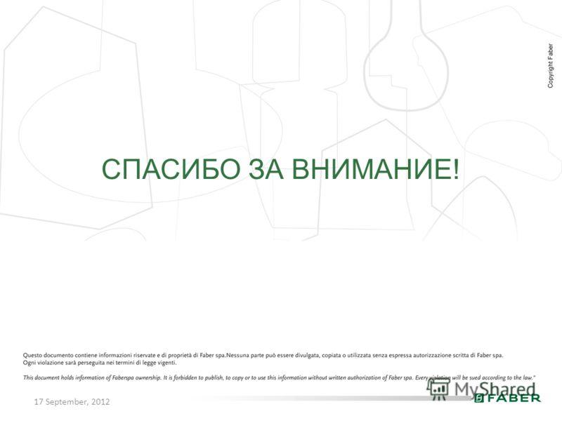 17 September, 2012 СПАСИБО ЗА ВНИМАНИЕ!