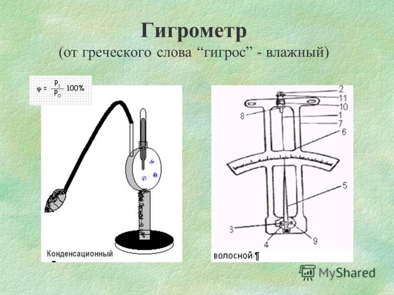 Д ЛЯ КОЛИЧЕСТВЕННОЙ ОЦЕНКИ ВЛАЖНОСТИ ВОЗДУХА ИСПОЛЬЗУЮТ СЛЕДУЮЩИЕ ХАРАКТЕРИСТИКИ 1. Абсолютная влажность воздуха. Измеряют парциальным давлением Р (Па)– давление, которое производил бы водяной пар, при отсутствии всех других газов 2. Относительная вл