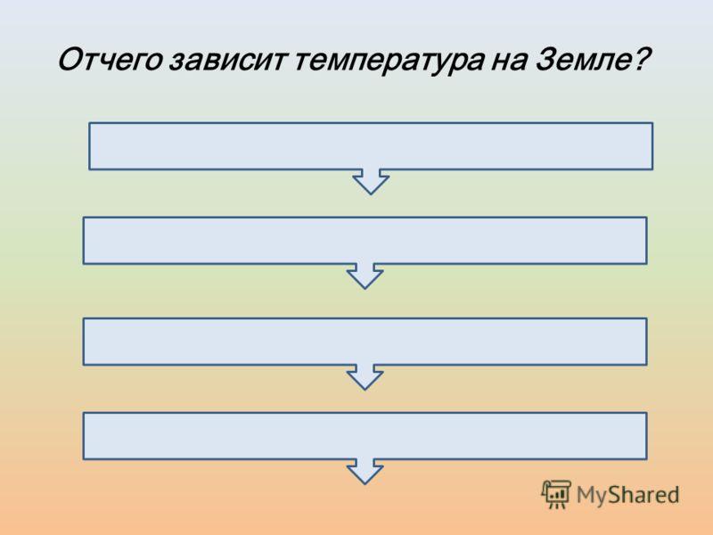 Отчего зависит температура на Земле?