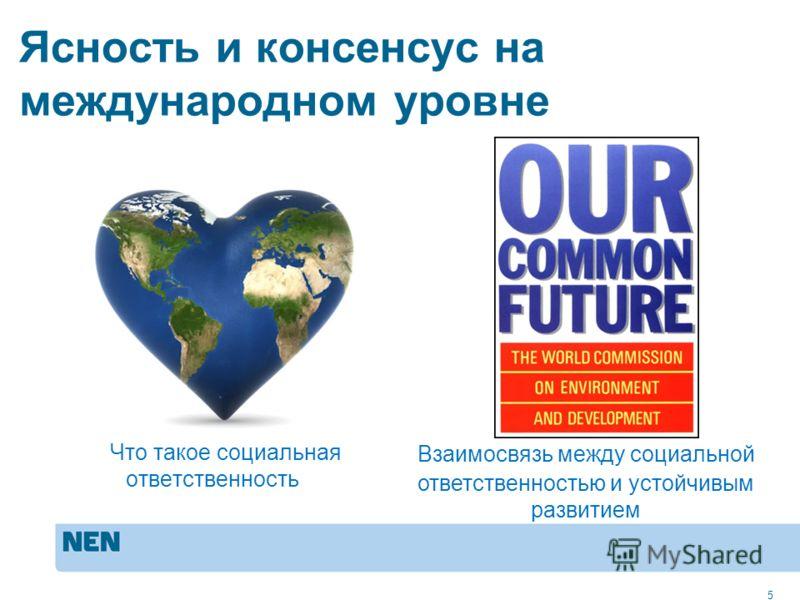 MVO in de praktijk: ISO 260005 Ясность и консенсус на международном уровне Что такое социальная ответственность 5 Взаимосвязь между социальной ответственностью и устойчивым развитием