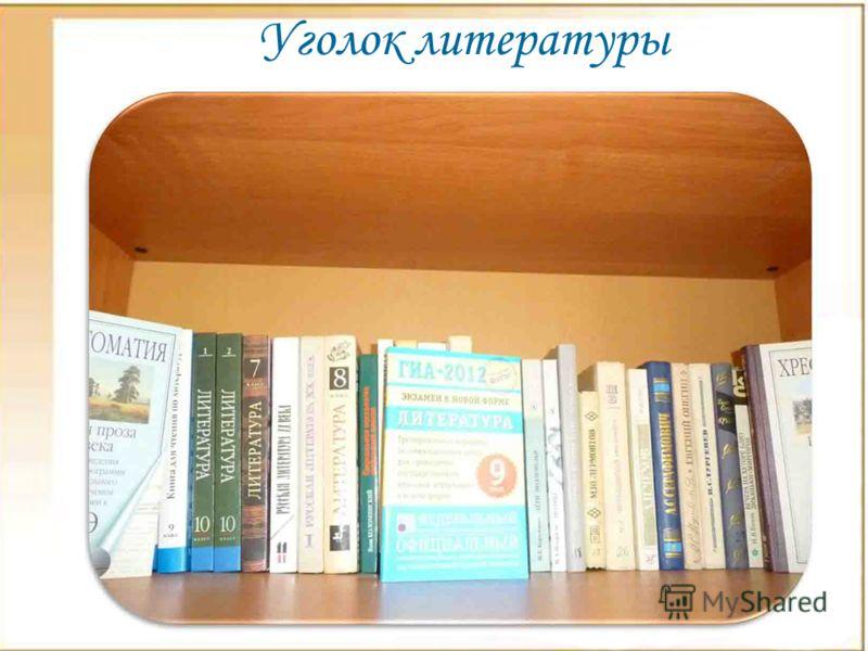Уголок литературы