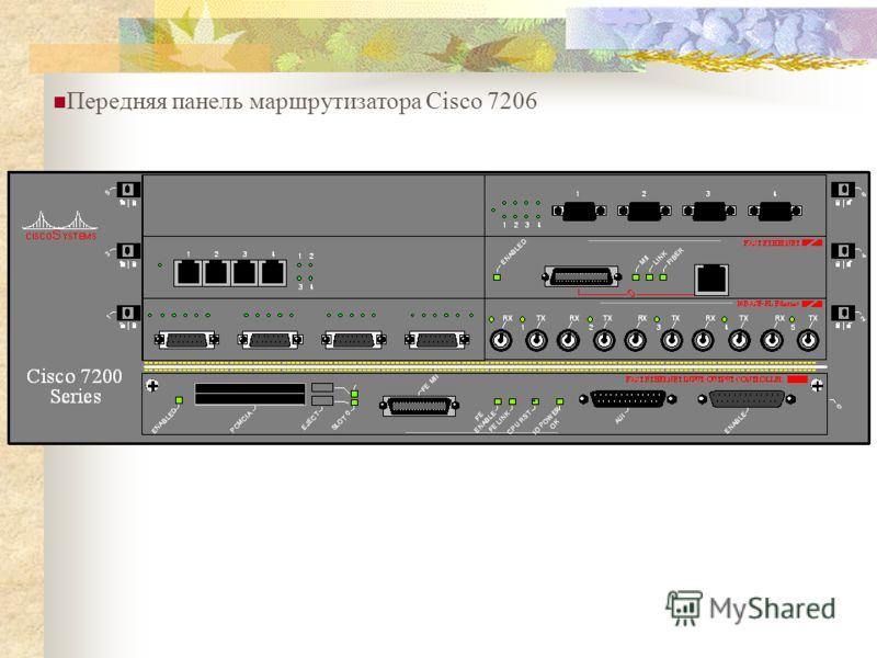 Передняя панель маршрутизатора Cisco 7206