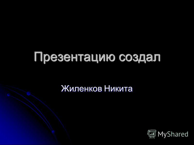 Презентацию создал Жиленков Никита