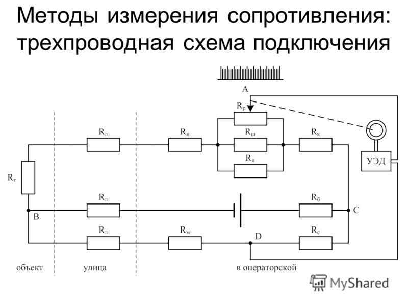 Методы измерения сопротивления: трехпроводная схема подключения