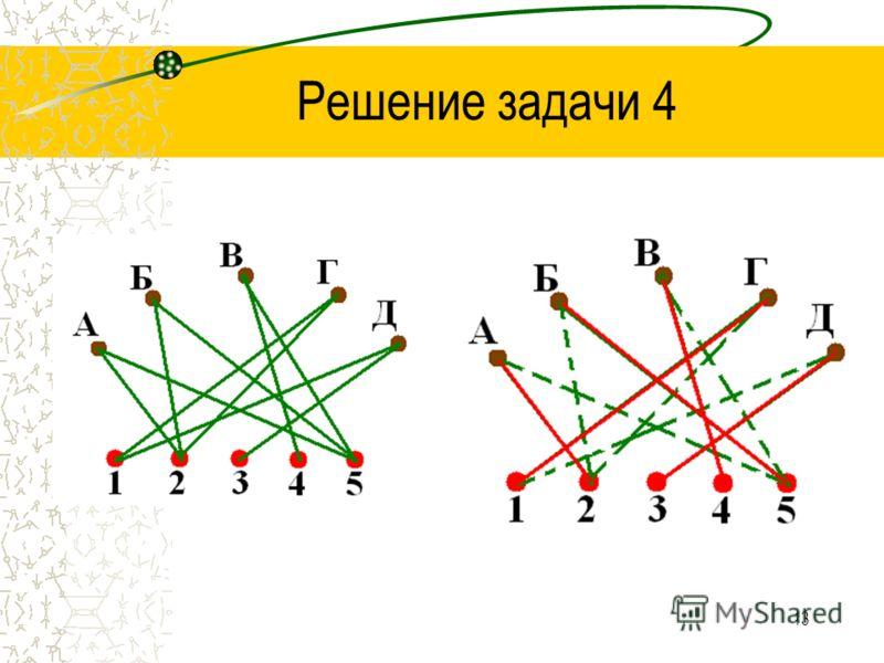 12 Решение задачи 4 Составим схему по условию задачи