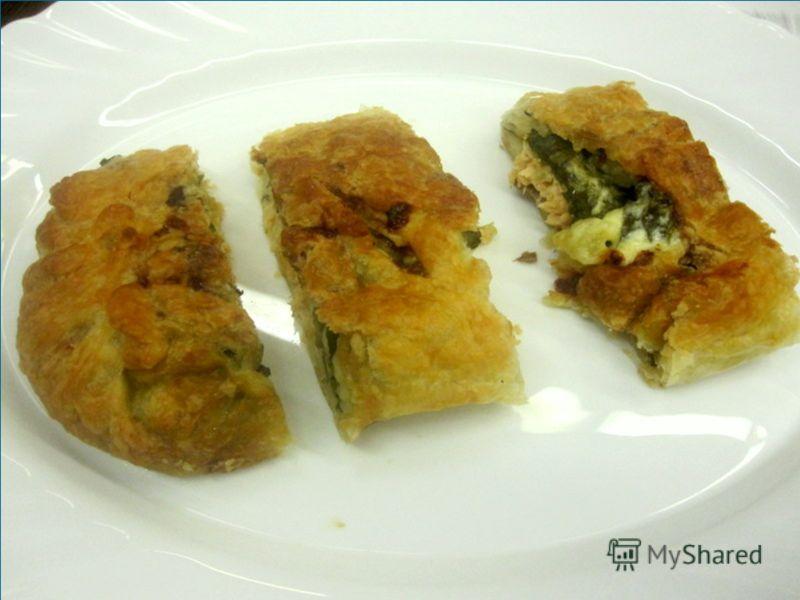 рыбный пирог из семги со шпинатом