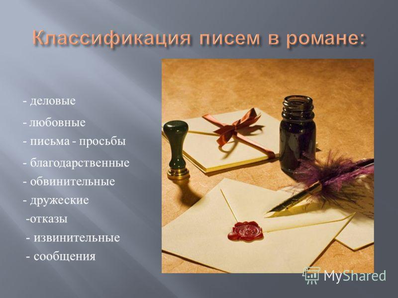 Это нововведение помогало развитию действия в общей концепции произведения. Использует этот прием и Пушкин. При раскрытии характера персонажа огромную роль играют письма героев,