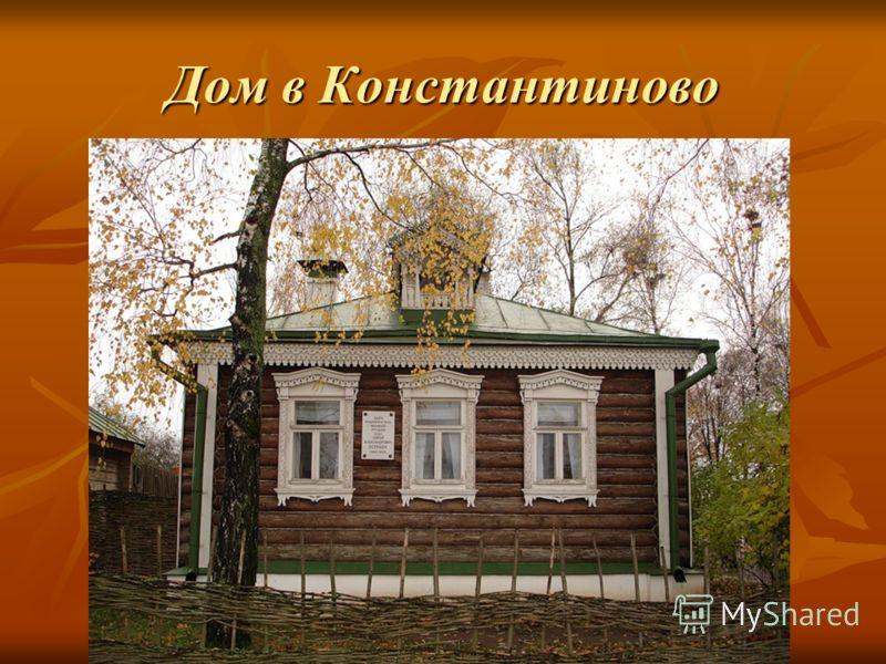 Дом в Константиново