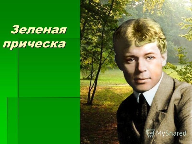 Зеленая прическа Зеленая прическа