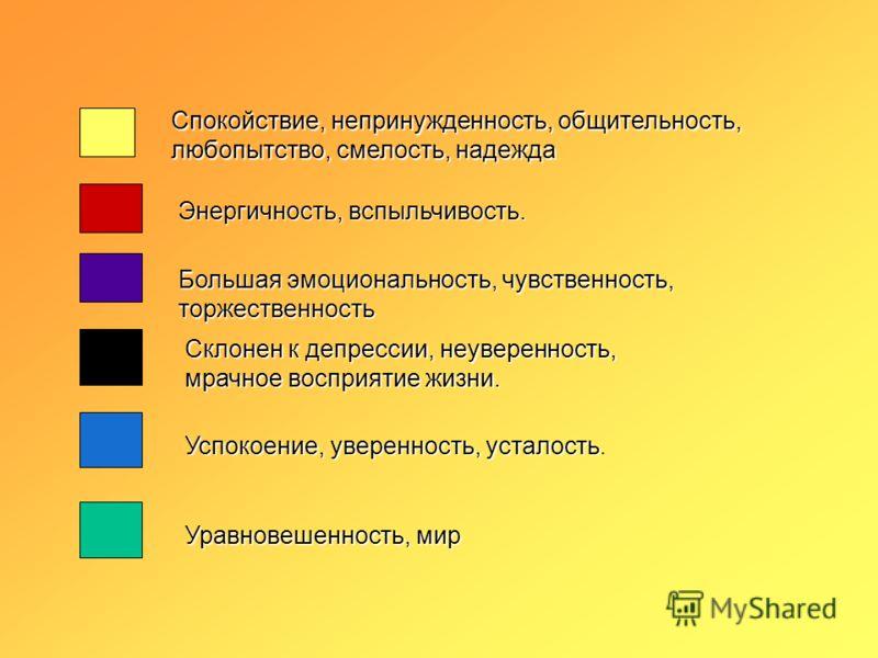 Рефлексия Какой цвет соответствует вашему душевному состоянию, настроению?