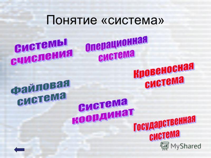 Понятие «система»