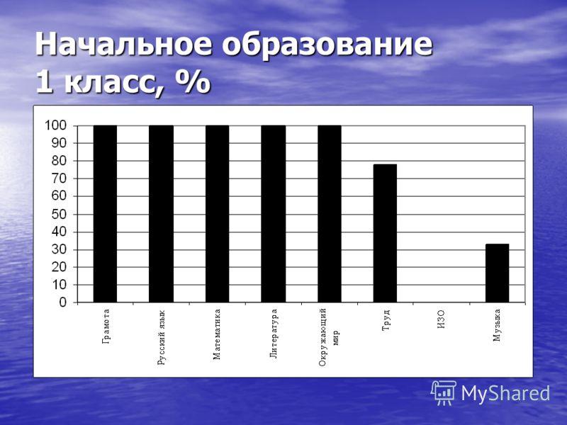 Начальное образование 1 класс, %
